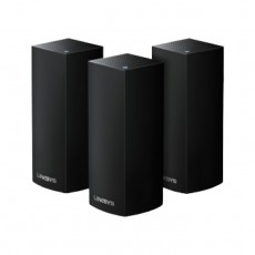 Linksys Velop Intelligent Mesh WiFi System, Tri-Band, 3-Pack ( WHW0303B-AC6600) - Black