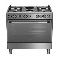 طباخ بيكو 90 × 60 سم 2 موقد غاز 4 شعلات غاز (GG 12120 FX) - ستانليس ستيل