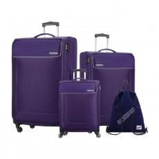 طقم حقائب جمايكا 3 قطع + حقيبة من أمريكان توريستر - بنفسجي