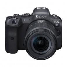 كاميرا كانون اي او اس ار 6 بدون مرآه + عدسة 24 -105 ملم