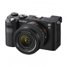 كاميرا سوني الفا ايه 7 سي الرقمية بدون مرآه مع عدسة 28-60 ملم - أسود