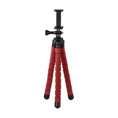 حامل ثلاثي مرن  للهواتف الذكية و GoPro من هاما - أحمر