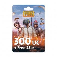 نقاط لعبة ببجي بقيمة (300 + مجاني 25 UC)