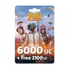 نقاط لعبة ببجي بقيمة (6000 + مجاني 2100 UC)