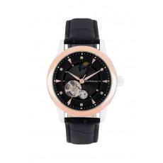 ساعة جين بليكور رجالية أوتوماتيكية بعرض تناظري وحزام جلد (JBP1902)