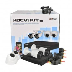طقم كاميرات المراقبة داهو HVCR (عدد 2 كاميرا خارجية + 2 كاميرا داخلية)
