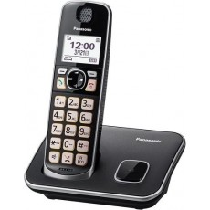 Panasonic Cordless Phone (KX-TGE610UEB) - Black