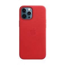 غطاء الحماية ماج سيف جلد لهاتف أبل آيفون 12 برو ماكس - أحمر