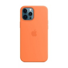 غطاء الحماية ماج سيف سيليكون لهاتف أبل آيفون 12 برو ماكس - برتقالي خوخي