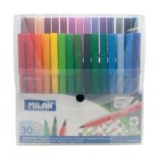 Milan Fibre Pens Transparent Case 30pcs