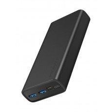 Promate Bolt-20 20000mAh Compact Smart Charging Power Bank - Black
