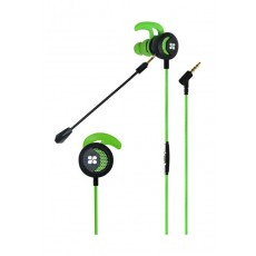 Promate Clink In-Ear Gaming Earphone with Detachable Microphone - Green