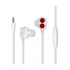 Promate Ivory Super Bass Dual Driver In-Ear Stereo Earphones - Maroon