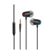 Promate TuneBuds-1 Dynamic In-Ear Stereo Earphones with In-Line Microphone - Black