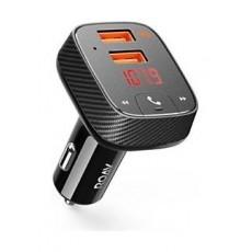 أنكر شاحن السيارة بمنفذين يو إس بي وناقل الملفات الصوتية اللاسلكي -  إف٢ (R5111012) - أسود