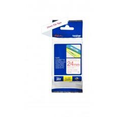 شريط طباعة ملصقات المغلف من  بروذر - ٢٤ ملم (24TZ252) - أحمر في أبيض