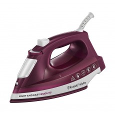 Russell Hobbs Light & Easy Brights 2400w 0.24L Steam Iron - Mulberry