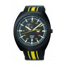 ساعة سيكو للرجال بعرض تناظري – سوار قماش - أصفر / أسود (A289J)