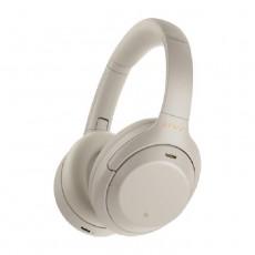 سماعة رأس لاسلكية بخاصية إلغاء الضوضاء من سوني (WH-1000XM4/SME) - فضي