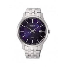 ساعة سيكو العصرية للرجال بحزام معدني و شاشة عرض تناظرية - ٤٢ ملم - (SUR291P) - فضي