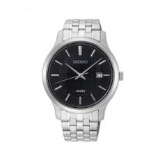 ساعة سيكو العصرية للرجال بحزام معدني و شاشة عرض تناظرية - ٤٢ ملم - (SUR293P) - فضي