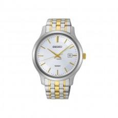 ساعة سيكو العصرية للرجال بحزام معدني و شاشة عرض تناظرية - ٤٢ ملم - (SUR295P) - فضي