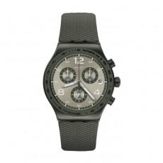 Swatch Quartz Chronograph 43mm Rubber Gents Watch (SWAYVM404)