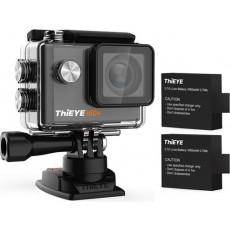كاميرا الأكشن ثاي آي آي٦٠ بلس دقة ٤ كي ١٠٨٠ بكسل واي فاي مع ٢ بطارية - أسود