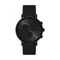 Timex Style Weekender 41mm Chronograph Unisex Leather Watch (TW2R79800) - Black