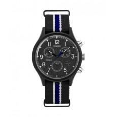 ساعة تايمكس إنديغلو للجنسين بعرض تناظري - ٤٢ ملم مع حزام نسيج (TW2T29700)
