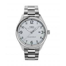 ساعة تايمكس واتربيري للرجال بعرض تناظري وحزام معدني -42 ملم -(TW2T69700)  - فضي