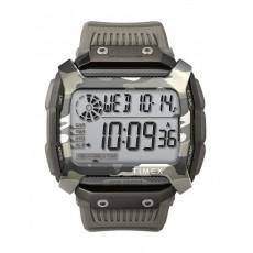ساعة تايمكس مع حزام راتنج للرجال - رمادي - TW5M18300
