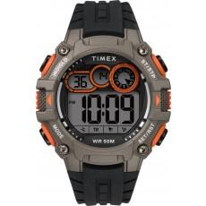 ساعة تايمكس الرياضية الرقمية مع حزام من المطاط للرجال - أسود (TW5M27200)