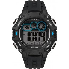 ساعة تايمكس الرياضية الرقمية مع حزام من المطاط للرجال - أسود (TW5M27300)