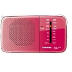 راديو بحجم صغير من توشيبا-اللون الأسود