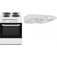 طباخ كهربائي ٦٠ × ٦٠ سم من ونسا - ٤ شعلة (WCT6040031W) + شفاط الروائح ٦٠ سنتيمتر من ونسا