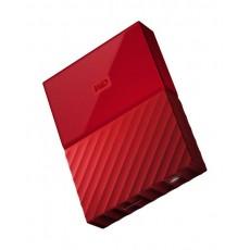 القرص الصلب الخارجي ماي باسبورت سعة ٢ تيرا بايت ومنفذ يو إس بي ٣,٠ من ويسترن ديجيتال - أحمر