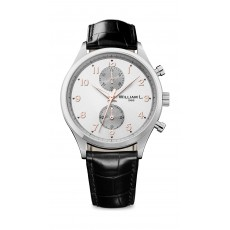 William L Small Chronograph Leather Watch - WLAC02GOCN