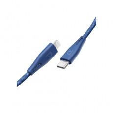 كابل نايلون نوع -سي للايتنينج 0.3 متر من راف باور - أزرق