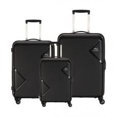 مجموعة حقائب زاك الصلبة مع عجلات دوارة من كاميليانت - ٣ حبات - أسود