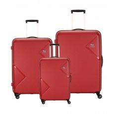 مجموعة حقائب زاك الصلبة مع عجلات دوارة من كاميليانت - ٣ حبات - أحمر