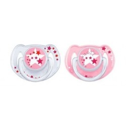 Philips Avent 2Pcs Silicone Night Time Pacifier - 6-18 Months