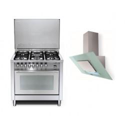طباخ الغاز ٩٤ لتر + شفاط الروائح لطباخ الغاز ٩٠ سم من لوفرا