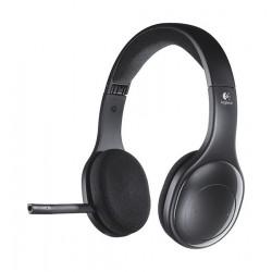سماعة رأس لاسلكية بتقنية البلوتوث مع مايك من لوجيتك - أسود - H800