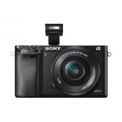 كاميرا سوني ألفا الرقمية بدون مرآة مع عدسة ١٦-٥٠ ملم - أسود (a6000)
