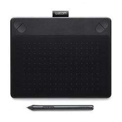 تابلت الرسم واكوم إنتوس آرت مع قلم رسم - (صغير) - أسود