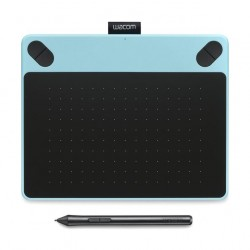 تابلت الرسم باللمس واكوم إنتوس كوميك مع قلم رسم - (صغير) - أزرق