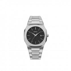 ساعة جوفيال للرجال بعرض تناظري و حزام معدني 40 ملم (1500GSMQ-03)