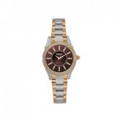 ساعة جوفيال النسائية بعرض تناظري وحزام معدني  34 ملم (16054-LAMQ-10) - فضي
