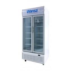ثلاجة بباب مزودج شفاف ونسا ٢١ قدم – أبيض (WUSC-600-NFWT)